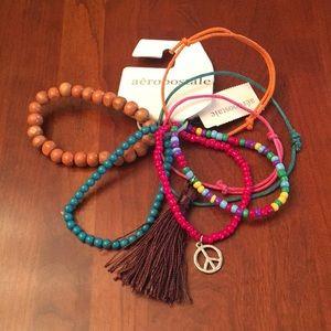 NWT Aeropostale 7 bracelet set